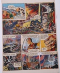 The RED MOON MYSTERY -  Planche remontée de Dan DARE