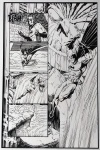 Bernie Wrightson Batman vs. Aliens page