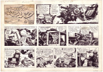"Johnny Hazard, ""Lost dynasty"", planche du weekend, 11/12/1971"