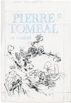"Pierre Tombal, couverture du tome 10, ""Os courent""."