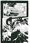 Batman - planche orginale - Steve Scott - super action !!!