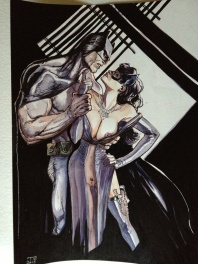 Batman & Catwoman by R. Toulhoat