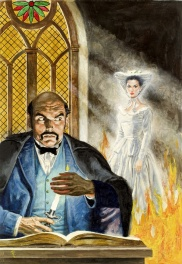 Classics Illustrated cover: The Woman in White