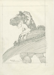 More Macabre Trading Card , sketch #51, titré, Reptile Ride1994 FPG