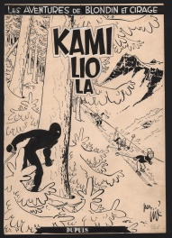 Couverture originale - Blondin et Cirage n° 3, « Kamiliola », 1954.