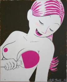 Acrylique sur Toile Milly Chantilly Confessions d'un canard Sex-toy