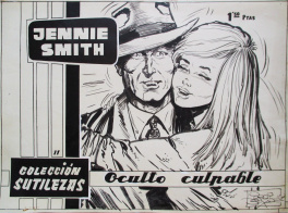 Oculto culpable - Couverture de Jennie Smith n°11, collection Sutilezas, 1962, S.A.D.E. Publicaciones