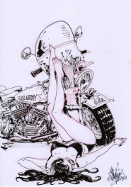 Philippe Gürel - Pin-Up & Moto