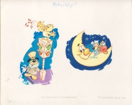 "2 illustrations pour ""Le journal de Mickey"""