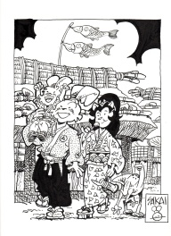 Usagi Yojimbo commission - Boys' day