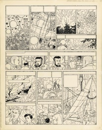Planche originale - Guy Lefranc-La grande Menace-PL 36