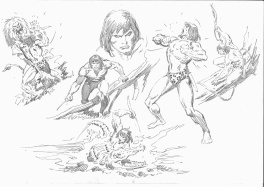 Tarzan 1 unpublished pin-up pencils part 1