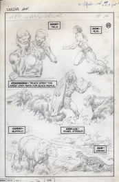Tarzan : Unpublished penciled page Language of the Great Apes # 14