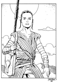 Rey  star wars par chris malgrain
