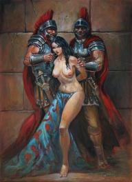 Captive (in  Heroic: The Regis Moulun sketchbook 1  ) Comic Art