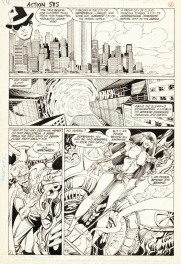 ACTION COMICS #585 page 2 - SUPERMAN & ARATHAZA, 1987