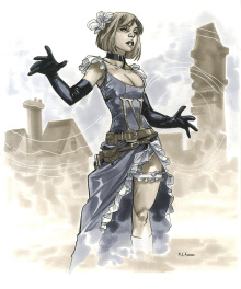 Sue Storm steampunk