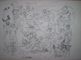 The Official Marvel Index to the X-Men #5 prelim Cover,Claudio Castellini