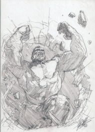 Ultimate Origins #4 prelim Cover(Hulk),Gabrielle Dell'Otto