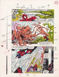 the Amazing Spider-man #311 page 27 color guide,Todd McFarlane