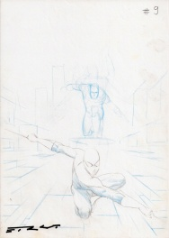 Silver Surfer-Requiem#2 unpublished Cover prelim,Esad T. Ribic