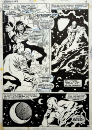 "Silver Surfer #7 page 6 -  ""The heir of Frankenstein"""