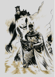 Batman et Killer croc par Troy Nixey