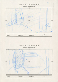 Storyboard du film d'animation Starwatcher Arzak