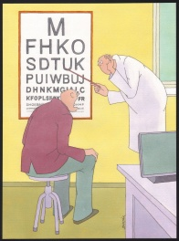 At the ophthalmologist
