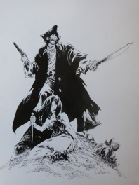 Long John Silver, Illustration originale, encadrée