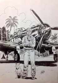 Greg Pappy Boyington - VMF 214 -F4U-1A Corsair
