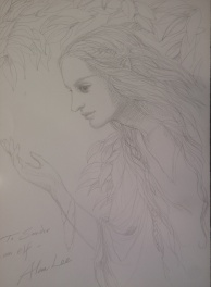Dessin original d'un elfe par Alan Lee