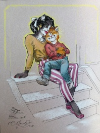 Blacksad Illustration tout en tendresse...