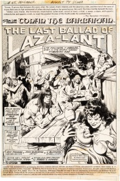 "Conan the Barbarian #45 page 1 ""The Last Ballad of Laza-Lanti"""