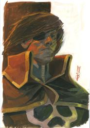 Captain Harlock (d�dicace sur livre) Comic Art