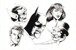 Dick Giordano Batman and villains