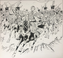 Charge des Hussars Comic Art