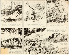 Hal Foster Prince Valiant Sunday 22.01.1939