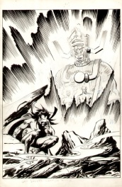 "John BUSCEMA_ Unpublished art for ""Silver Surfer Judgement Day"""