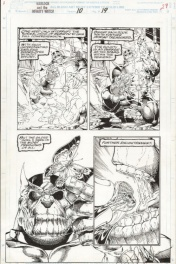 Warlock and the Infinity Watch #10, pg. 19 - Thanos Triumphant by Angel Medina & Bob Almond