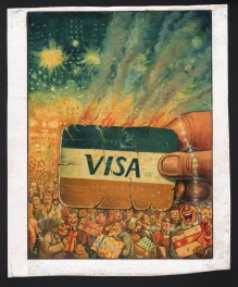 Burning Visa Card
