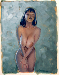 Andreae - Peinture - Pin-up 17