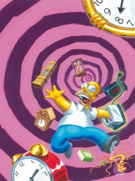Bill Morrison The Simpsons Homer Time and Punishment Painting 1994