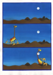The giraffe and the moon