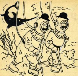 Les Dupondt et l'espadon Comic Art