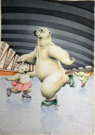 Ours Polaire patinant � Carnets intimes � jean Sol� Comic Art