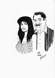 Luba et Peter par Beto Hernandez Comic Art