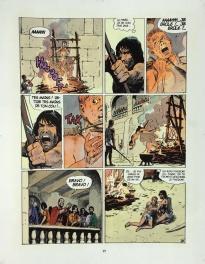 Thorgal - Mise en couleur originale de la planche - Le Barbare - planches originales Comic Art