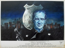 Fort Apache, the Bronx (1981) - movie poster painting (prototype)