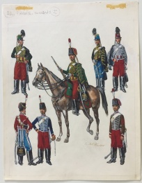 France, Hussards Comic Art